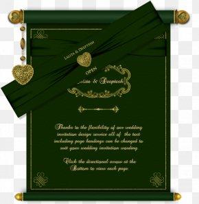 Wedding Card - Wedding Invitation Paper Green Wedding Marriage PNG