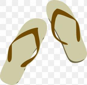 Beach Sandal Clipart - Flip-flops Slipper Clip Art PNG