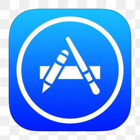 App Store - Blue Computer Icon Area Text PNG