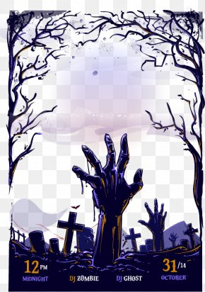 Halloween Poster Material - Poster Halloween Graphic Design PNG