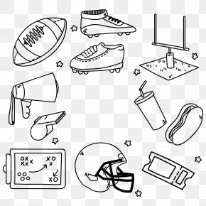 Hand-painted American Football Element Vector Material - American Football Football Helmet Euclidean Vector Football Boot PNG
