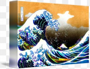The Great Wave - The Great Wave Off Kanagawa Fine Wind, Clear Morning Sumida Hokusai Museum Painting Artist PNG