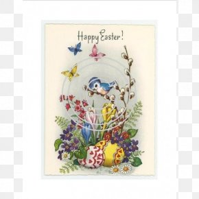 Easter - Easter Bunny Greeting & Note Cards Easter Postcard Paper PNG