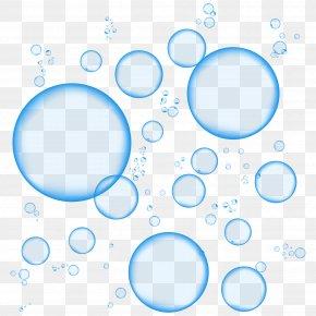 Bubbles - Blue Foam Sticker PNG