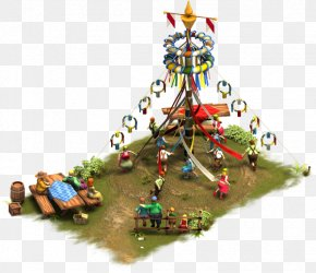 Christmas Tree - Arbre De Mai Christmas Tree Forge Of Empires Maypole PNG