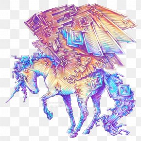 Horse - Bismuth Drawing Horse Watercolor Painting PNG