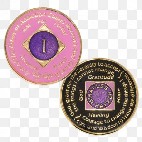 Medal - Narcotics Anonymous Medal Alcoholics Anonymous Sobriety Coin PNG