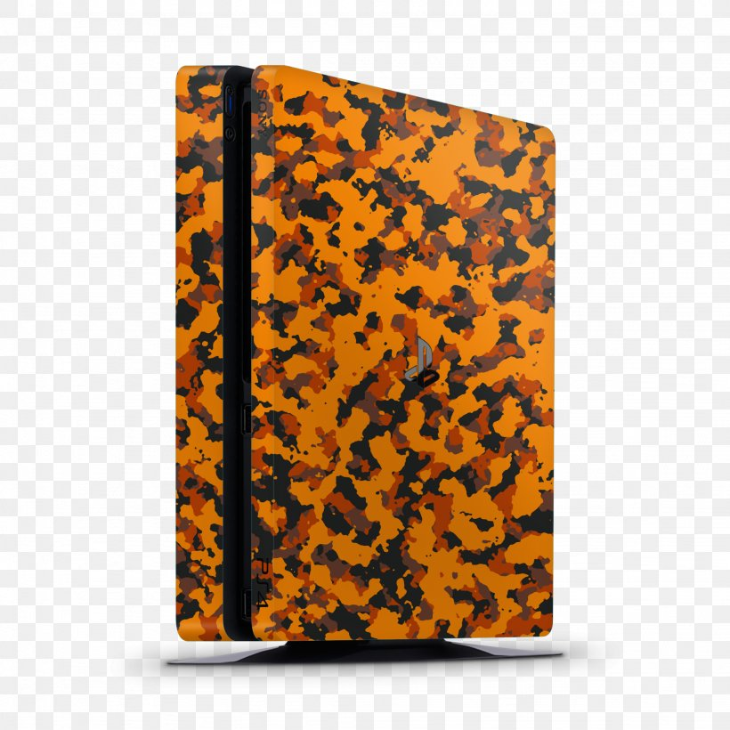 Sony PlayStation 4 Slim Video Game Consoles Xbox, PNG, 2048x2048px, Playstation, Camouflage, Macbook, Orange, Playstation 4 Download Free