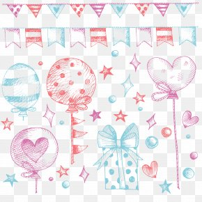 Birthday Accessories - Birthday Balloon Gift Party PNG