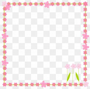 Flower Frame Cliparts - Paper Flower Picture Frame Clip Art PNG