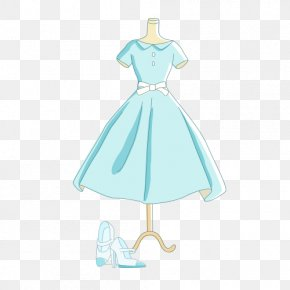 Light Blue Dress Picture - Robe Gown Dress Blue PNG