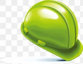 Green Helmet Design Elements - Helmet Hard Hat PNG