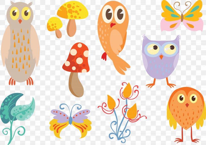 Owl Euclidean Vector Insect Clip Art, PNG, 5757x4052px, Bird, Artwork, Beak, Bird Of Prey, Clip Art Download Free