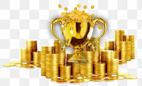 Gold Trophy - Gold Coin Download Computer File PNG
