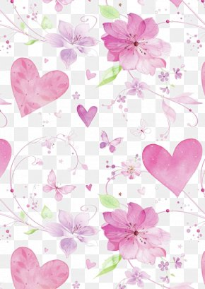 Pink Flowers Background - Paper Flower Pink Color Wallpaper PNG