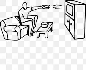 Sitting On The Couch Watching TV - Cartoon Television PNG