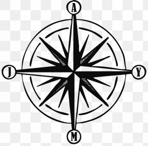 Points Of The Compass - Compass Rose Points Of The Compass Tattoo Flower In The Sun PNG
