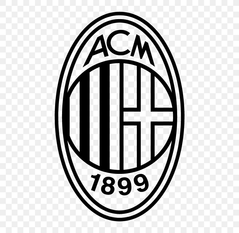 A C Milan Logo Serie A Uefa Champions League Png 800x800px Ac Milan Area Black And White