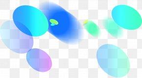 Blue Fancy Circle Effect Element - Blue Turquoise Sky Desktop Wallpaper PNG
