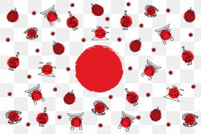 Vector Japanese Elements - Mount Fuji Euclidean Vector Illustration PNG