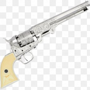Western Pistol - Trigger Colt 1851 Navy Revolver Firearm Colt's Manufacturing Company PNG
