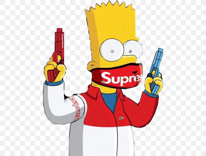 Bart Simpson Homer Simpson Supreme Drawing Image Png