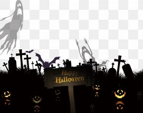 Halloween Pumpkin Stone Material - Cemetery Euclidean Vector Ghost PNG