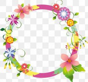 Flower - Borders And Frames Picture Frames Floral Design Clip Art PNG