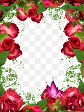Hq Cliparts - Picture Frame Garden Roses Clip Art PNG
