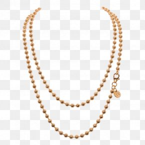 Jewellery Chain HD - Gold Ball Chain Necklace Pendant PNG