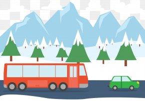 Snow Car - Euclidean Vector Road Snow Clip Art PNG