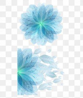 Blue Flower Color,Blue Flowers Vector Material - Blue Petal Flower PNG