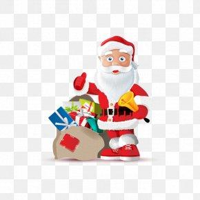 Vector Santa Claus - Santa Claus Christmas Gift Clip Art PNG