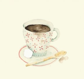 Coffee - Coffee Cafe Watercolor Painting Illustrator PNG