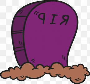 Purple Cartoon Cemetery - Cemetery Grave PNG