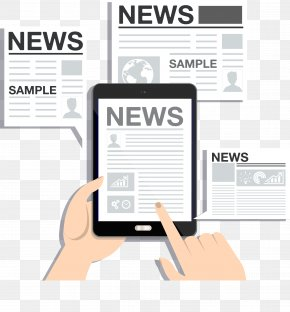 Mobile Phone Watching News - Newspaper Mobile Phone PNG