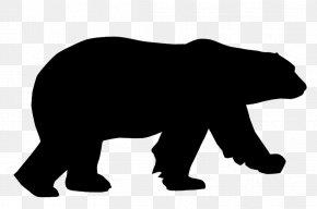 Animal Silhouettes - Polar Bear American Black Bear Brown Bear Clip Art PNG
