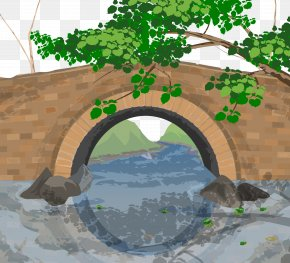 Vector Bridge - Arch Bridge Clip Art PNG