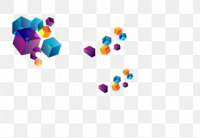 Cube Floating Element - Chemical Element Square PNG