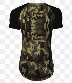 T-shirt - T-shirt Raglan Sleeve Military Camouflage PNG