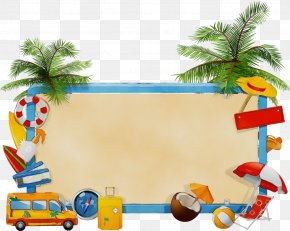Art Palm Tree - Summer Palm Tree PNG