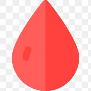 Drop Of Blood - Triangle Red Font PNG