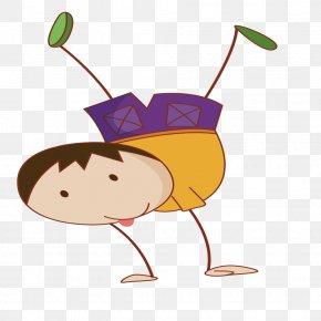 Handstand Boy - Boy Clip Art PNG