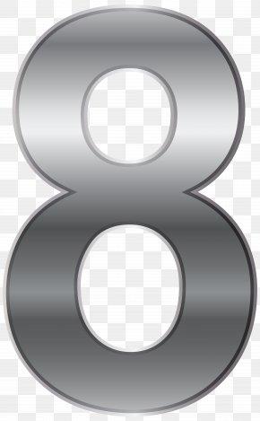 Silver Number Eight Transparent Clip Art Image - Download Clip Art PNG