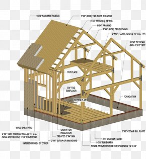 Cut Into Two Parts - Roof Shed Pole Building Framing Post PNG