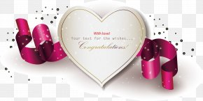 Red Ribbon Chocolate Gift Element - Heart Love Name Wallpaper PNG