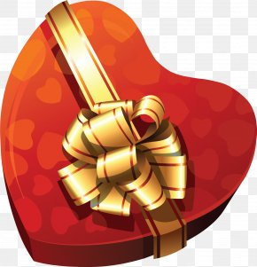 Large Heart Gift Box Clipart - Chocolate Box Heart Clip Art PNG