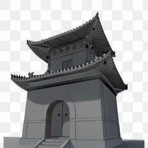 A Stately Ancient City Gate - Facade Architecture Building PNG