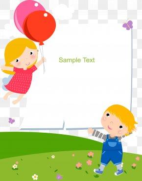 Kids Cartoon Balloons Text Box - Child Cartoon Clip Art PNG