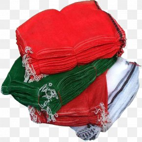 Four Bundles Of Woven Bags - Plastic Bag Mesh Polypropylene Net PNG